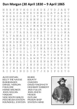 Dan Morgan Word Search