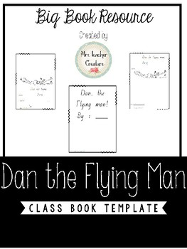 Dan The Flying Man Class Book Template