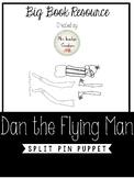 Dan the Flying Man Split Pin Puppet