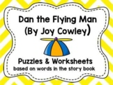 """Worksheets for use with """"Dan the Flying Man"""" Book"""