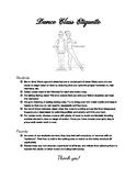 Dance Class Etiquette poster