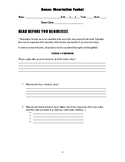 Dance Class Observation Packet (For students)
