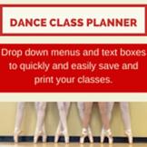 Dance Class Planner Ballet Beginner Basic