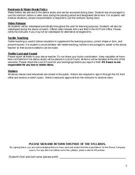 Beginning dance 1 syllabus template by dance teacher resources | tpt.