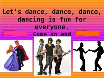 Dance, Dance, Dance- Sing Along FUN powerpoint
