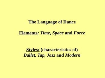 Dance Elements PPT