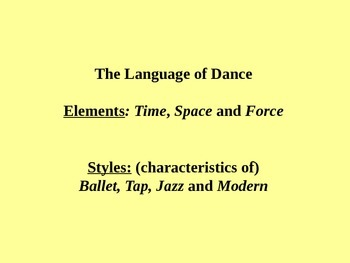 Dance Elements PPT