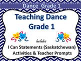 Dance Grade 1 Saskatchewan Curriculum