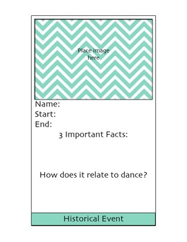 Dance History Terms Cards