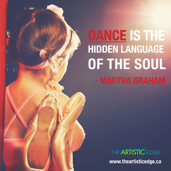 Dance Is The Hidden Language of the Soul Printable Poster (8.5 x 11)