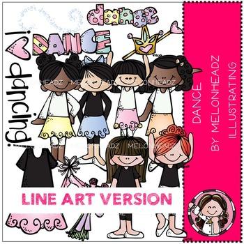 Melonheadz: Dance clip art - LINE ART