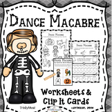 Dance Macabre Worksheets & Clip It Cards (Younger Grades)