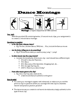 Dance Montage Project