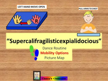 "Dance/Movement Mobility Challenged Picture Map ""Supercalifragilisticexpiali..."""