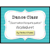 Dance Nonparticipation Observation Worksheet