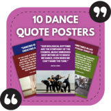 Dance Posters - 10 Quotes About Dancing for Sports Bulleti