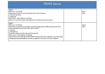Dance Program - ES1 & S1 PDHPE - 3 weeks -