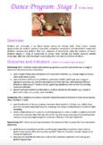 Dance Program Stage 1 (Y1 & Y2) based on NSW K-6 Creative Arts Syllabus Outcomes