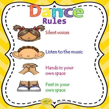 Dance Rules Poster (FREEBIE!)
