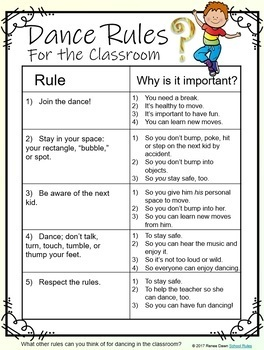 Dance Rules for the Classroom