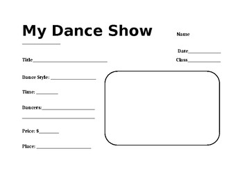 Dance Show Assignment Template