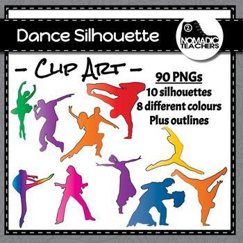 Dance Silhouette Clip Art - 90 PNGS