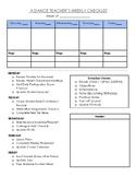 Dance Teacher Checklist