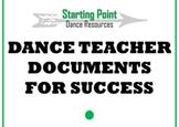 Dance Teacher Documents for Success