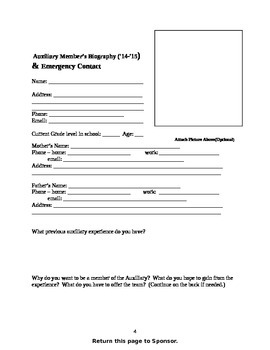 Dance Team Tryout Packet