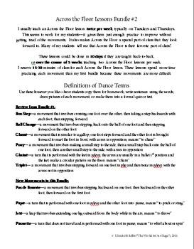 Dance Technique Lessons Bundle #2 for Across the Floor