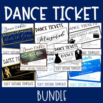 Dance Ticket Template GROWING BUNDLE
