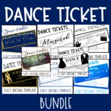 Dance Ticket Template BUNDLE