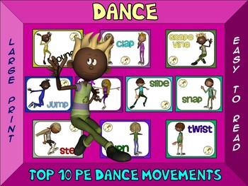 Dance- Top 10 Movement Visuals- Simple Large Print Design