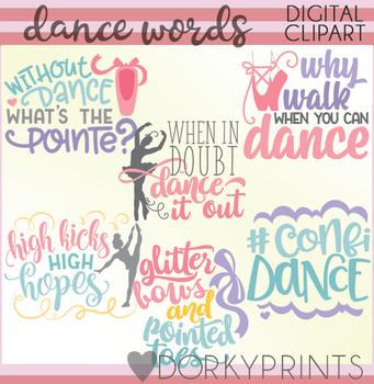 dance word art clip art by dorky doodles teachers pay teachers