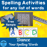 Spelling Activity for any list of words Freebie