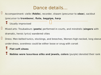 Dance in the Middle Ages