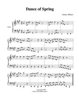 Dance of Spring for piano