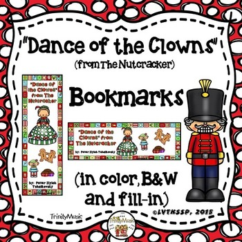 Dance of the Clowns (from The Nutcracker) Bookmarks