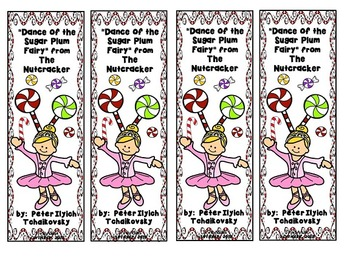 Dance of the Sugar Plum Fairy (from The Nutcracker) Bookmarks
