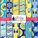 Hanukkah Scrapbook Paper Backgrounds {Glitter Meets Glue}
