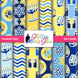 Hanukkah Paper {Scrapbook Backgrounds for Worksheets and R