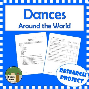 Dances Of The World Research Project