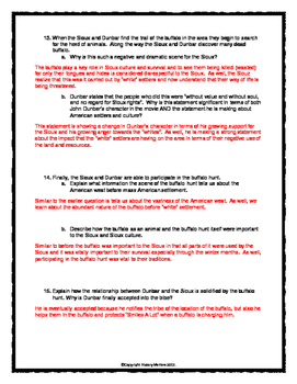 Dances With Wolves - Movie Guide, Assignment and Key (Manifest Destiny)