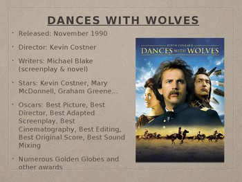 Dances with Wolves Film Discussion PPT