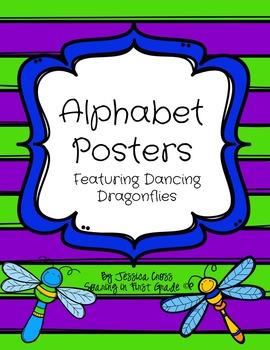 Dancing Dragonflies Alphabet Posters