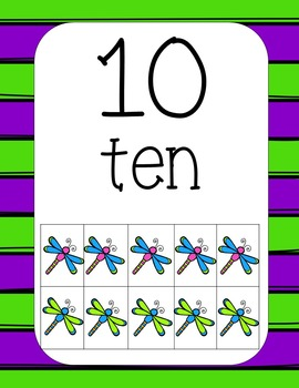 Dancing Dragonflies Number Posters 1-20