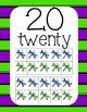 Dancing Dragonflies Number Posters 1-20