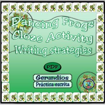 Dancing Frogs Present Participle Cloze Activity  / Actividad de relleno