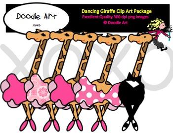 Dancing Giraffe Clipart Pack