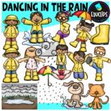 Dancing In The Rain Clip Art Bundle {Educlips Clipart}